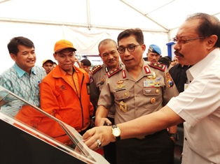 Kapolda Jatim Lounching E-Smart Samsat