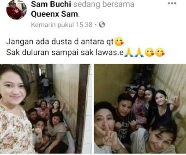 Tahanan KP3 Selfie dan Live Video di Facebook